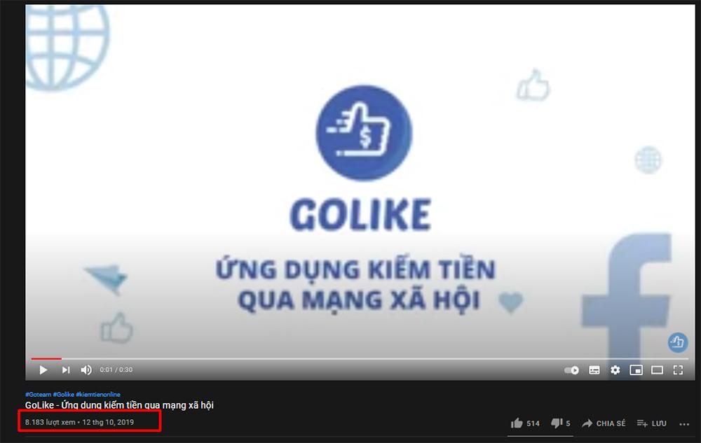 Cách youtube tính view